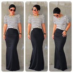 OOTD: #DIY Fishtail Maxi + #DIY Puff Sleeve Top + Pattern Review B5562