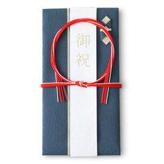 YUI Lab./ハンドメイドの祝儀袋 日の出 藍赤