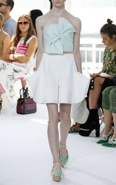 Cotton Poplin Bow Top by DELPOZO for Preorder on Moda Operandi