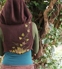 Forest Faery Ivy Vest with Cuffs by Elvelution on Etsy