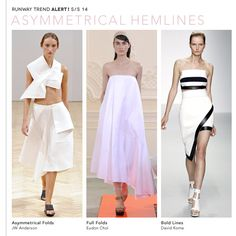 LOVE THE MIDDLE DRESS/Spring Summer 2014 trends - asymmetrical hemlines