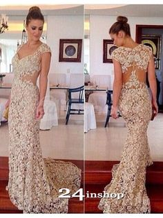 2019 Mermaid Straps Lace With Applique Sweep Train Prom Dresses, SSM, This dress could be custom made, there are no extra cost to do custom size and color. Modest Evening Gowns, Prom Gowns Elegant, Evening Dresses With Sleeves, Cheap Evening Dresses, Mermaid Evening Dresses, Cheap Prom Dresses, Formal Dresses, Shrug For Dresses, Prom Dress Stores