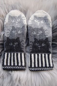 Trendy Ideas for knitting hat tutorial fair isles Mittens Pattern, Knit Mittens, Knitted Gloves, Knitting Socks, Hand Knitting, Kitten Mittens, Knitting Charts, Knitting Patterns, Crochet Patterns
