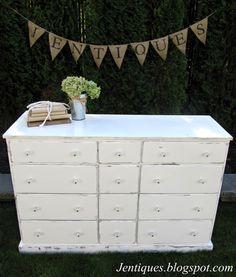 Shabby Chic White Dresser. Jentiques