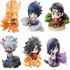 Though small, these Naruto chibi figures pack a huge punch! Not only are they cute, they are also made of high quality PVC and crafted to great detail. Each character also comes with a base unique to