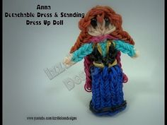 ▶ Rainbow Loom Princess Anna Charm/Action Figure - Detachable Skirt & Standing Dress Up Doll
