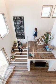 Creative staircase - home idea - Escadas Interior Stairs, Home Interior Design, Exterior Design, Interior Architecture, Interior And Exterior, Stairs Architecture, Escalier Design, Stair Decor, House Stairs