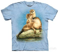 Youth: Three Otters T-Shirt at AllPosters.com