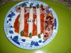 En la cocina con Ana : Dieta PP : Pavo con Esparragos Envueltos