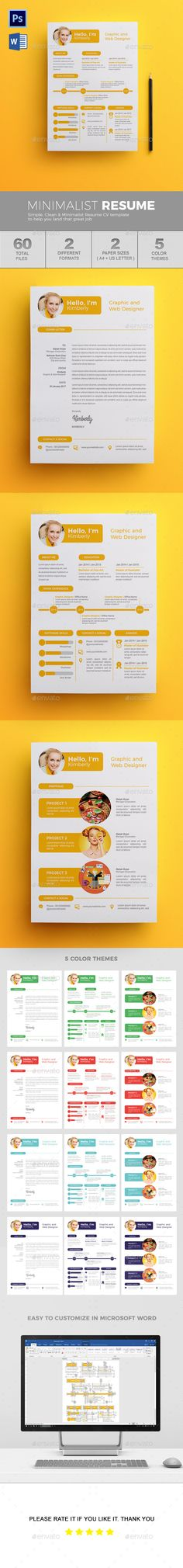 #Resume - Resumes #Stationery Download here: https://graphicriver.net/item/resume/19525611?ref=alena994