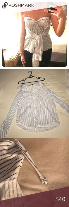 Blue and white striped shirt - worn twice Blue and white striped shirt - worn twice Zara Tops Button Down Shirts