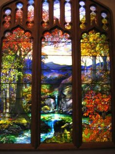Louis Comfort Tiffany...stained glass window, Metropolitan Museum of Art, NYC
