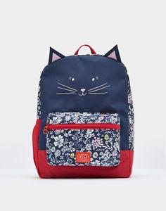 Joules Junior Buddie Girls Cat Rucksack Back Pack Bag
