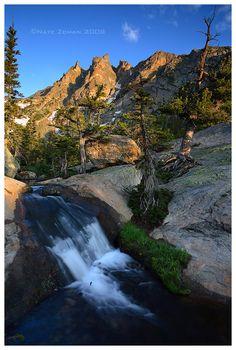 Morning Cascade: Emerald Lake Trail - Rocky Mountain National Park, Colorado