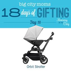 One of my favorite strollers, the @orbitbaby G3 is the Day 18 giveaway of the #18DaysofGifting. Link to enter in profile.