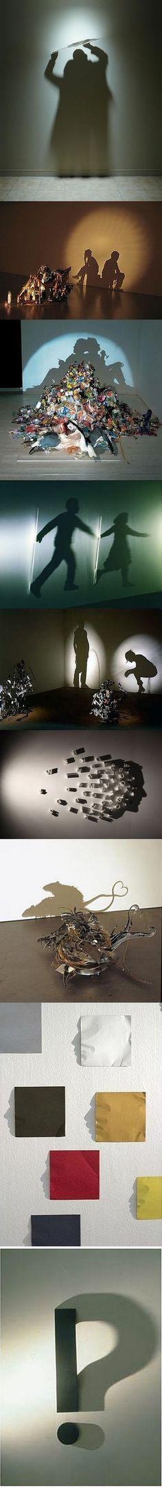 Un traitement des ombres saisissant (surtout l'image des carrés de couleurs qui forment des visages !)