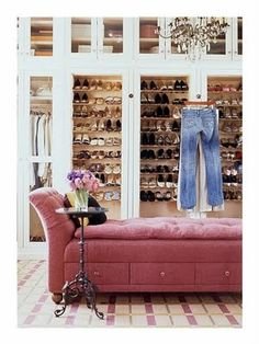 could i have a chaise in my closet? or would it just end up covered in clothes....?