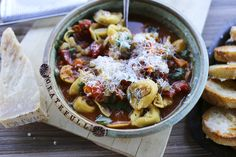 Tortellini Vegetable Soup is an easy and soul soothing weeknight potage brimming with pasta and vegetables.