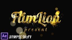 After Effects Tutorial: Gold Particles Text Effects in After Effects - ...