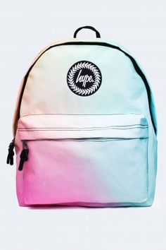 ** Tropical fade backpack by Hype - Best School & Fashion Bags Ideas 2019 Mini Backpack, Backpack Bags, Mini Bag, Pastel Backpack, Cute Backpacks For School, Cool Backpacks, Backpacks For Girls, Hype Bags, Mochila Jansport