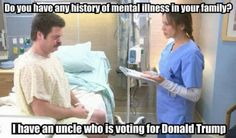 A funny meme mocking Donald Trump and his supporters.