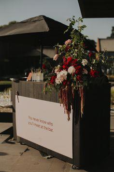 Bree and Steve's Modern Winery Wedding — State Of Reverie. Wedding Menu Cards, Wedding Prep, Wedding Signage, Wedding Catering, Wedding Stationery, Wedding Bar Signs, Wedding Planning, Floral Wedding, Wedding Flowers