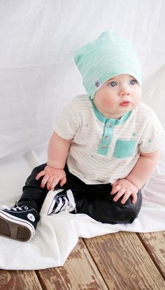 Beanie by Logan M Styles | lmstyles.bigcartel.com | shirt from old navy | leather pants by MiBaby Boutique | shoes from Converse | Baby Model | Beanie Baby | Photography