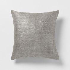 Metallic Brush Pillow Cover | west elm