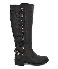 Look at this #zulilyfind! Black Corset Brook Boot #zulilyfinds  $31.99