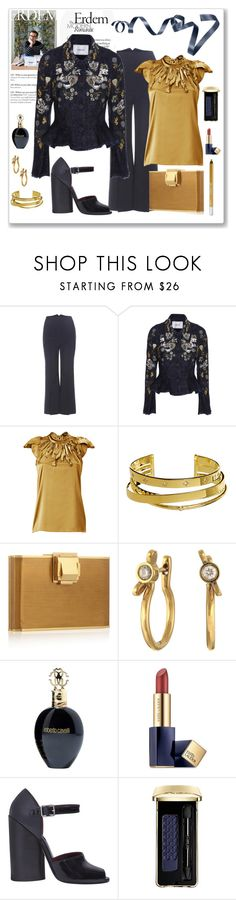 """""""Erdem Embroidered Lace Jacket Look"""" by romaboots-1 ❤ liked on Polyvore featuring Roksanda, Erdem, Steffen Schraut, Elizabeth and James, Lanvin, Marc by Marc Jacobs, Roberto Cavalli, Estée Lauder, Marc Jacobs and Guerlain"""