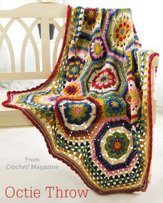Octie Throw from the Autumn 2014 issue of Crochet! Magazine. Order a digital copy here: http://www.anniescatalog.com/detail.html?code=AM22156