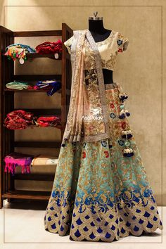 Lehenga for Bride: Beautiful multiple colour lehenga is perfect for the bride, it will suit any bride. Buy Online Designer Collection, :Call/ WhatsApp us 77164 . Indian Bridal Wear, Indian Wedding Outfits, Bridal Outfits, Indian Outfits, Bridal Dresses, Indian Weddings, Bridal Lehenga Choli, Indian Lehenga, Pakistani