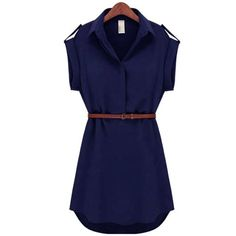 Sleeve Length(cm): Short Silhouette: A-Line Season: Summer Sleeve Style: Regular Pattern Type: Solid Style: Chinese Style Dresses Length: Above Knee, Mini Material: Chiffon,Spandex Neckline: Turn-down Collar Waistline: Natural Decoration: Sashes Size Length (cm) Chest (cm) Waist (cm) S 83 90 60-80 M 84 92 64-96 L 86 98 68-98 XL 90 100 74-102 XXL 91 104 76-106
