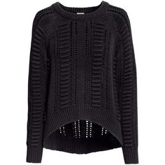 H&M Pattern-knit jumper (€38) ❤ liked on Polyvore featuring tops, sweaters, jumpers, shirts, black, jumper shirt, h&m shirts, h&m jumper, jumper top and h&m tops