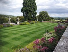 Culham Court gardens | An Allett C24 cylinder mower is used on the croquet lawn during the growing season and Michael feels this has significantly helped to improve the playing surface.