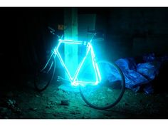 Transform your plain old bicycle into a fabulous Glow Bike, using EL wire.