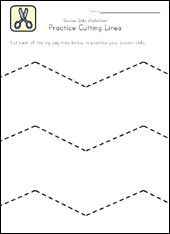OT Worksheets- Tracing on Pinterest | Worksheets, Fine Motor Skills ...