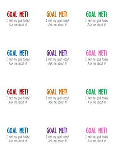 Goal Met! Stickers... awesome and SIMPLE way for celebrating student achievements!