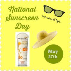 National Sunscreen Protection Day tips for safe sun   MomTrends http://www.momtrends.com/2014/05/national-sunscreen-protection-day-with-aveeno/
