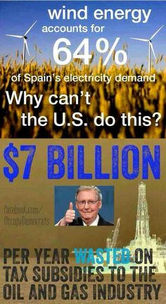 VOTE the DO NOTHING GOP OUT in NOV! A city in Germany is using almost 100% green energy... It could be reality here if we stop paying the rich and put our money to work for the greater good... investing in clean renewable energy! Say NO to subsidies ! Vote Democratic Nov 4 2014