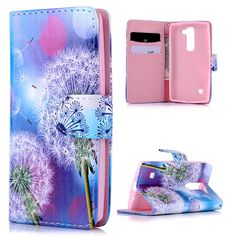 Cute Dandelion Colors Painted Leather Case For LG Spirit LTE Card Slot Flip Stand Protective Wallet Cover Lg Cases, Cheap Phone Cases, Dandelion Color, Painting Leather, Colorful Drawings, Fashion Colours, Leather Case, Slot, Paint Colors