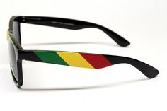 64f6afe1533 Rasta Reggae Snoop Lion Bob Marley Style Wayfarer 80s Sunglasses W54  Black yellow red