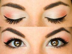 ojos en tono coral