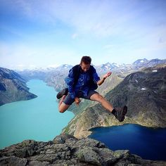 Congratulations to our #LifeProof Photo of the Week winner Joel Språng with his outstanding air guitar shot in #Besseggen, #Norway! http://bit.ly/LPPhotoJoel