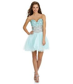 Jodi Kristopher BeadTrim Blouson HiLow Dress #Dillards | Wish List ...