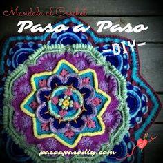 Mandala al crochet, descarga gratis pdf мандалы мандалы, салфетки и крючки. Crochet Diy, Crochet Granny, Crochet Mandela, Tapestry Crochet, Mandala Crochet, Arts And Crafts, Blanket, Knitting, Blog