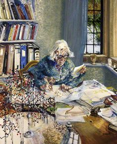 Dorothy Hodgkin, by Maggi Hambling, 1985. Model as instrument?