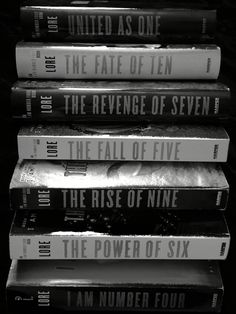 Lorien Legacies by Pittacus Lore. I am Number Four Cool Books, I Love Books, Books To Read, My Books, What's Your Number, I Am Number Four, Book Challenge, November Challenge, Lorien Legacies