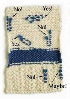 Knitting Techniques: Weaving in Ends Finishing Knitting Techniques: How to Weave in Ends - The good and the bad.Finishing Knitting Techniques: How to Weave in Ends - The good and the bad. Knitting Daily, Knitting Help, Loom Knitting, Knitting Stitches, Knitting Needles, Hand Knitting, Vintage Knitting, Knitting Machine, Weave In Ends Knitting