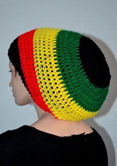 fdab8860260 Crochet Rasta Tam. Unisex Dreadlocks Hat. Bob by Africancrab